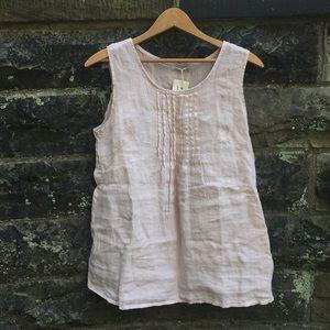 Laura Bianchi light pink sleeveless linen tank top